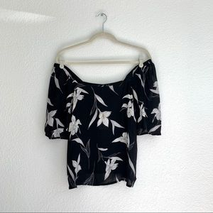 NWT A New Day Floral Off Shoulder Top Sz S